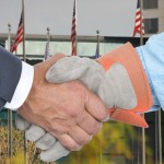 labor-management handshake